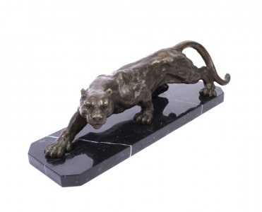 Large Bronze Creeping Panther Statue | Bronze Panther Statue | Ref. no. 01280 | Regent Antiques