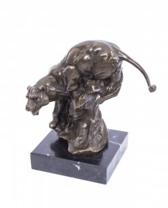 Bronze Statue of a Panther | Milo Bronze Sculpture of Panther | Ref. no. 01685
