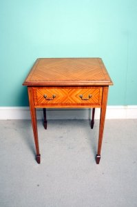 Antique Edwardian Satinwood Occasional Table