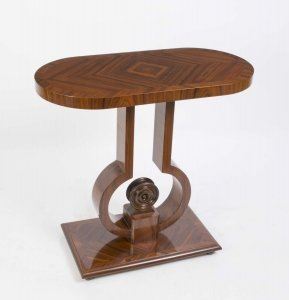 Elegant Art Deco Style Rosewood Console Side Table