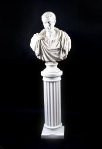 Stunning Marble Bust of Lucius Junius Brutus on Pedestal