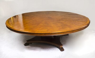 Vintage Regency Style 8ft Round Pollard Oak Dining Table 20thC | Ref. no. 03145