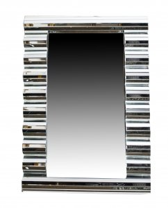Stunning Rectangular Art Deco Wave Pattern Mirror 120 x 80cm