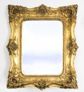 Stunning Large Ornate Italian Gilded Mirror 122 x 101 cm | Ref. no. 03640s