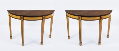 Antique Pair Regency Style Console Tables