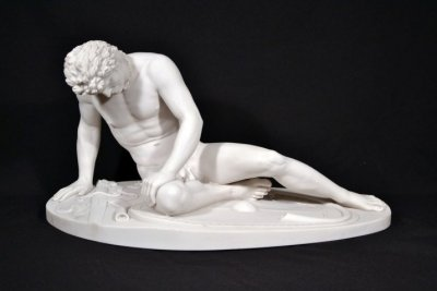 Stunning Marble Sculpture The Dying Gaul