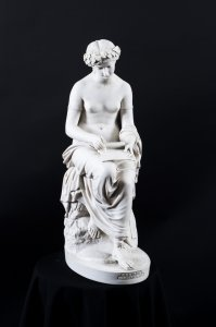 Elegant Classical Lady Corrina Lyric Muse Marble Figure