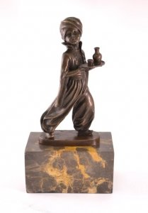 Moor Boy Bronze After Ferdinand Preiss