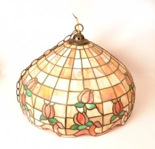 Vintage Tiffany Style Leaded Glass Lamp Shade