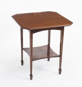 Antique Inlaid Mahogany Edwardian Occasional Table