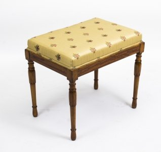Antique Edwardian Satinwood Stool
