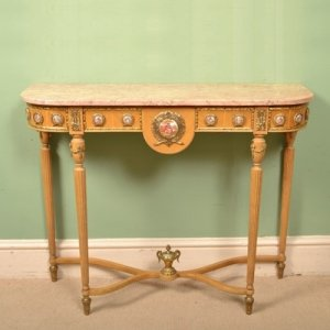 Vintage French Console Table Sevres Porcelain