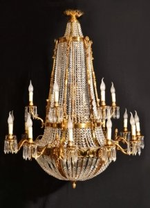 French empire style two tier 18 light ballroom chandelier ref french empire style two tier 18 light ballroom chandelier mozeypictures Gallery