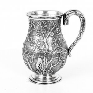 Antique Chinese Wang Hing Silver Mug