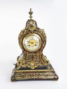 Antique French Boulle Mantel Clock On Stand c.1870 | Ref. no. 06163w | Regent Antiques