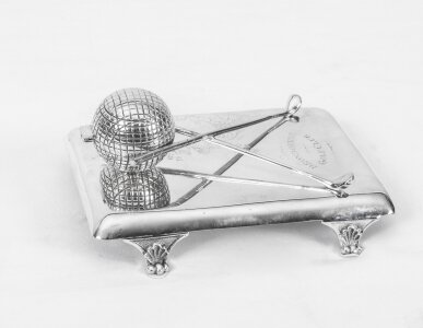 antique silver plated inkwell | Ref. no. 06233