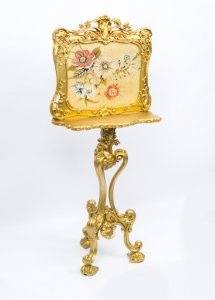 Antique Victorian Giltwood Fire Screen