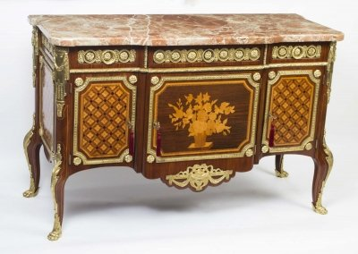 Antique French Marquetry Commode Marble Top Sold