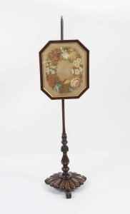 Antique William IV Rosewood Tapestry Pole Screen
