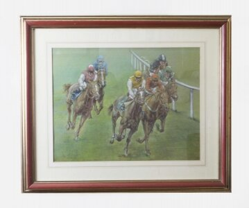 Pastel by Franco Matania The 3:30 Cheltenham