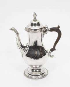 Antique Hester Bateman Silver Coffee Pot 1777