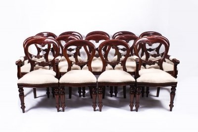 Affordable Set Victorian Style Balloon Back Dining Chairs With Victorian  Dining Chairs.