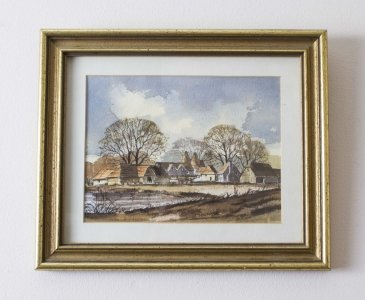 Vintage Watercolour by Isabel Castle Late 20th Century