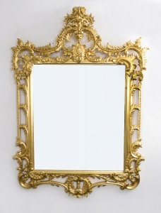 Elaborate Gilded Hand Carved George II Style Mirror 170 x 124 cm