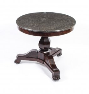 French Charles X Marble Topped Occasional Centre Table