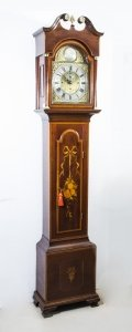 Antique Longcase Clock Chiming on Bells 19th Century