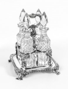 Paul Storr | Antique Silver Condiment Set| Antique Silver Cruet Set | Ref. no. 07147 | Regent Antiques
