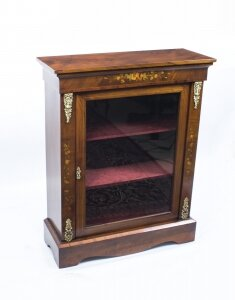 Antique Victorian Burr Walnut Marquetry Pier Cabinet c.1870 | Ref. no. 07279 | Regent Antiques