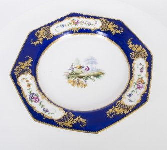 Antique Sevres Porcelain Cobalt Blue Porcelain Plate