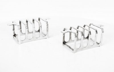 Antique Pair Art Deco Pair Mappin &amp Webb Toast Racks