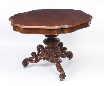 Antique French Gueridon Mahogany Centre Table