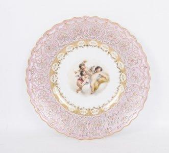 Antique Meissen Porcelain Cabinet Plate by Francesca Hirsch & Antique Meissen Porcelain Cabinet Plate by Francesca Hirsch | Ref ...