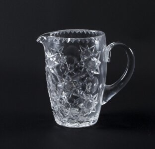 Vintage Cut Glass Crystal Jug Ewer Mid 20th Century | Ref. no. 07457a | Regent Antiques