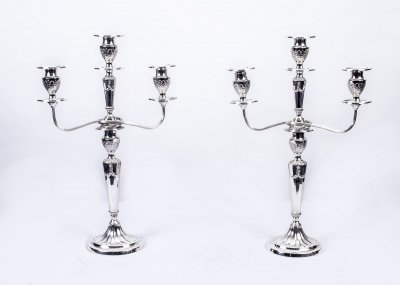 Antique Pair Neo Classical Revival Candelabra