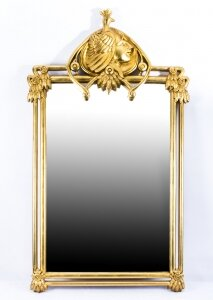 Beautiful French Art Nouveau Style Giltwood Mirror 121 x 71cm | Ref. no. 07548 | Regent Antiques