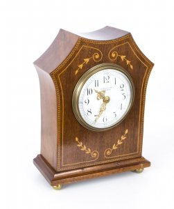 Antique Edwardian Inlaid Mahogany Mantel Clock c.1890 | Ref. no. 07641 | Regent Antiques