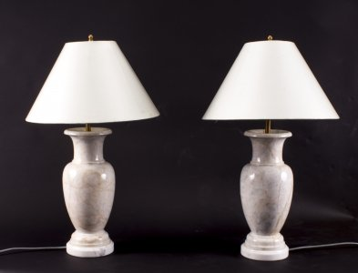 Vintage Pair of Marble Table Lamps Late 20th Century | Ref. no. 07680