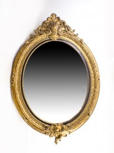 Beautiful Large Italian Gilded Decorative Oval Mirror 150 x 103 cm