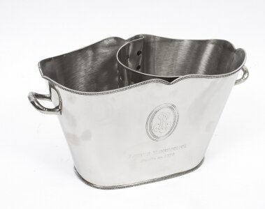 Decorative Roederer Silver Plated Champagne Cooler