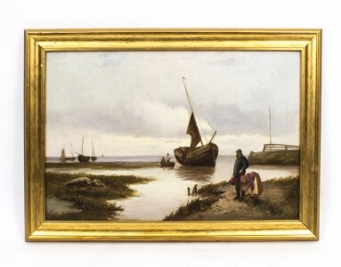 Antique Oil Painting Scotish Seascape John Henry Boel 1902 | Ref. no. 07802