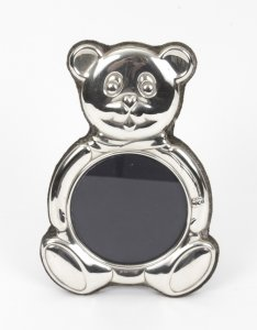 Stunning Vintage Teddy Bear Sterling Silver Photo Frame | Ref. no. 07828