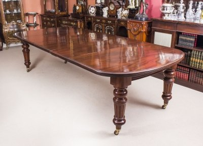 Antique 10ft Victorian D End Extending Dining Table C1870