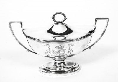 Antique Paul Storr Sterling Silver Sauce Tureen 1802