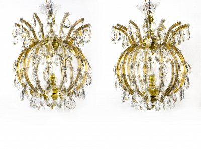 08040-Superb-Pair-of-Vintage-French-Cage-Crystal-Chandeliers-1