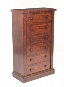 Antique Mahogany Wellington Chest Gillows