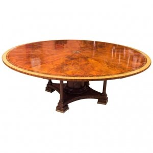Stunning 7ft Diameter Theodore Alexander Flame Mahogany Jupe Dining Table 20thC